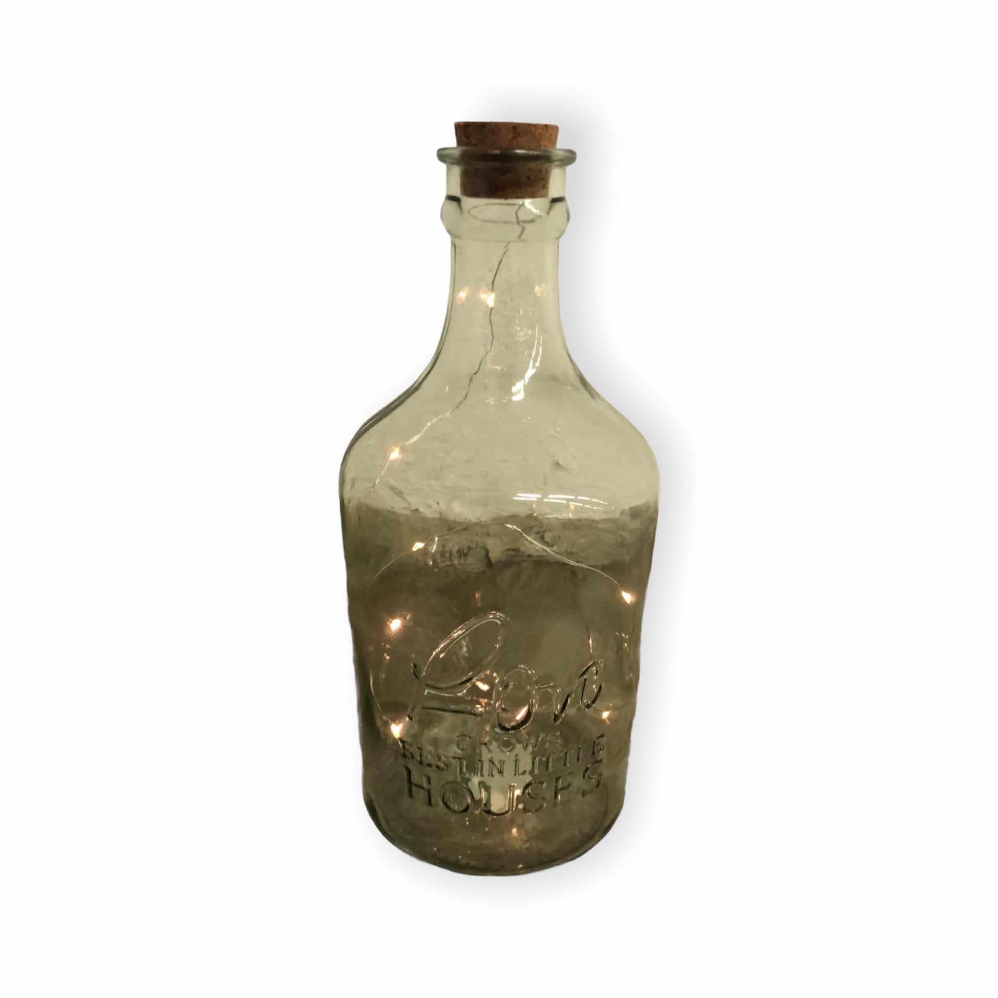 "Glasflasche ""Hajo"" mit LED-Korken"