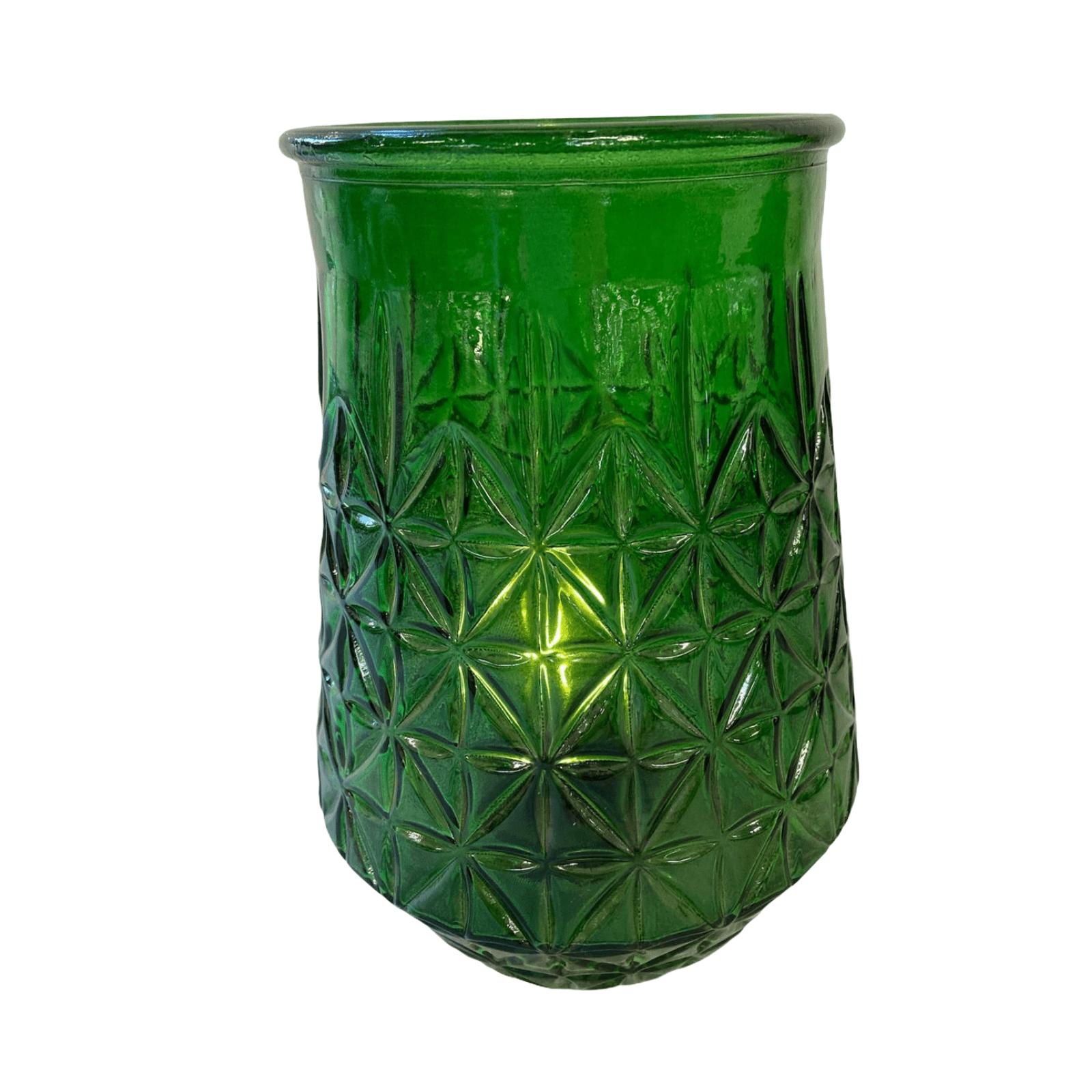 LED-Tischlampe aus Glas grün