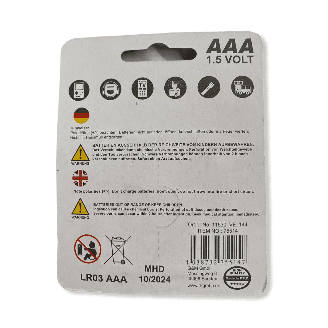 4er-Pack Batterien AAA