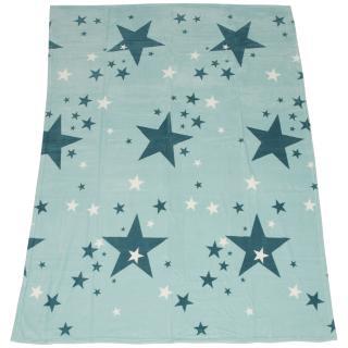 Stars Kuscheldecke türkis 150x200cm