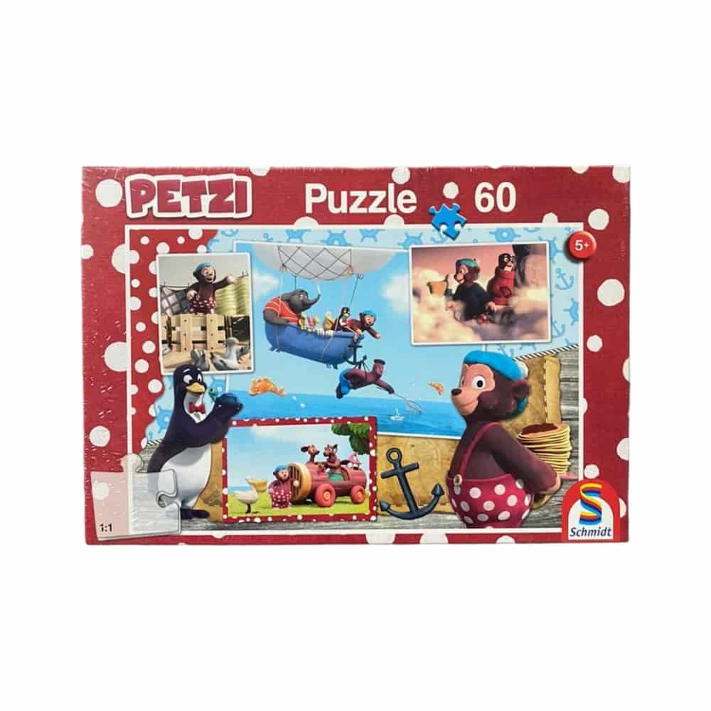 60 Teile  Puzzle Petzi -  Nur fliegen ist schöner!