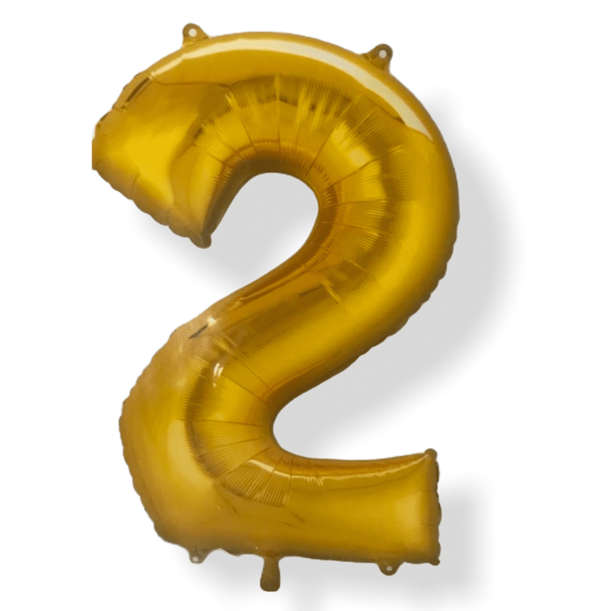 "Folienballon XXL gold ""2"""