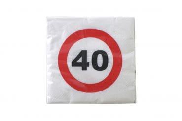 """20er-Pack Servietten Jubiläum """"40"""""""