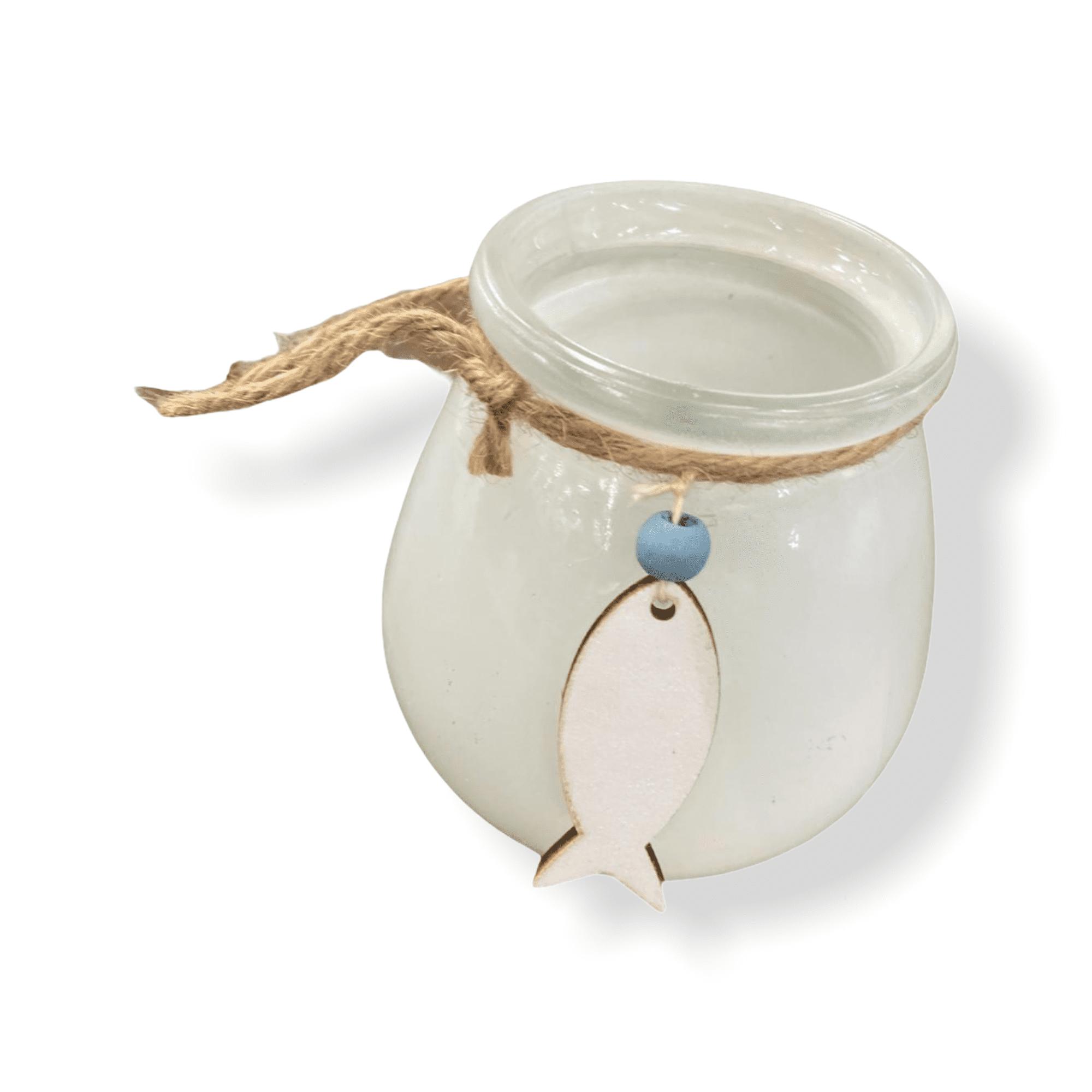 Teelichthalter mit Fischanhänger