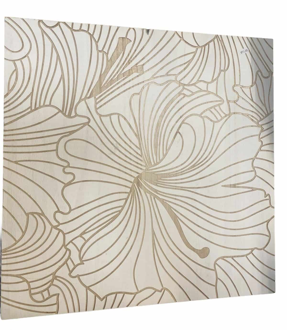 """Holzbild """"Hawaii-Blume"""" - Ausstellungsstück"""