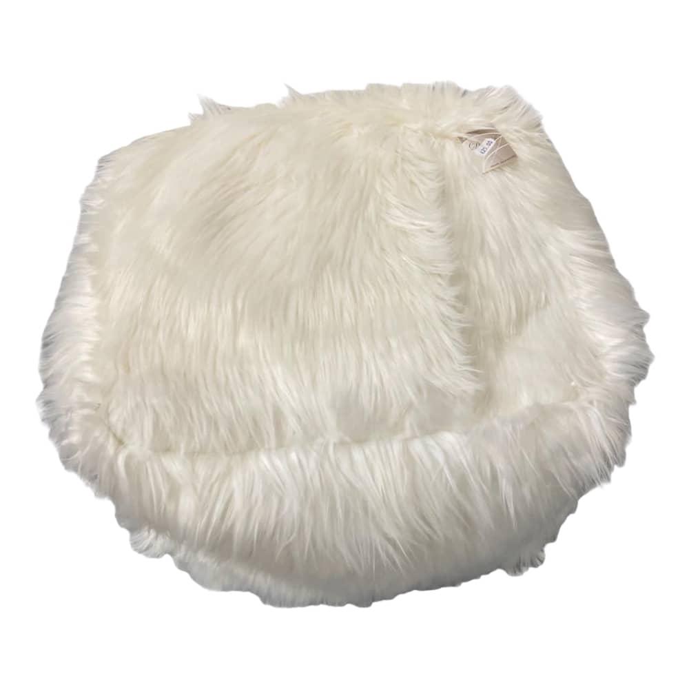 """Weißes Sitzkissen """"Eisbär"""""""