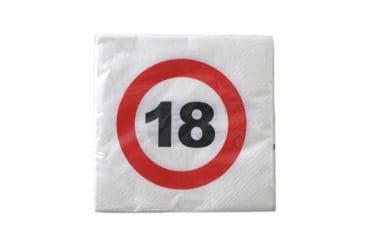 """20er-Pack Servietten Jubiläum """"18"""""""