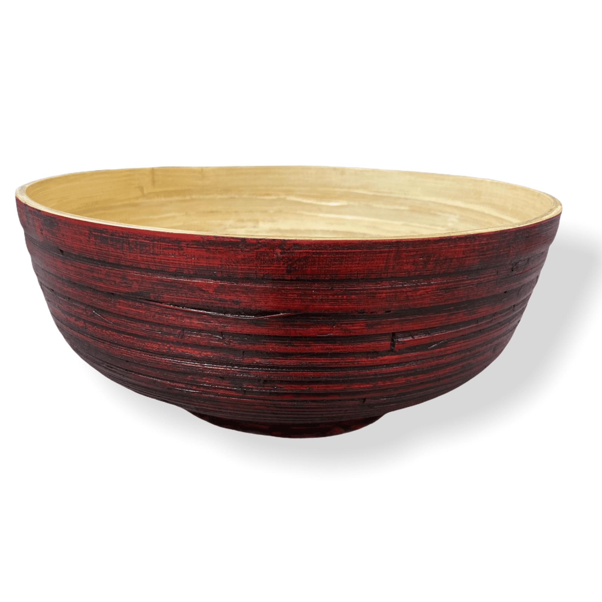Rote Bambusschale XL