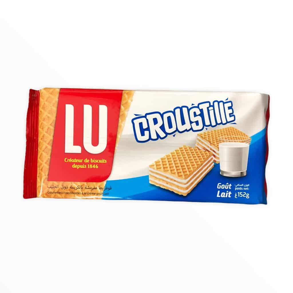 LU Croustille Waffelkeks mit Milchcremegeschmack 152g