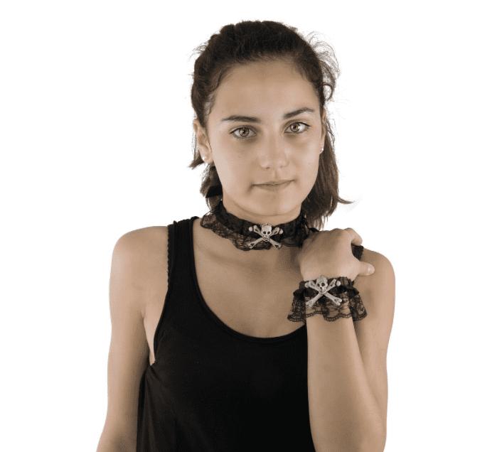 Kette + Armband in Spitzenoptik