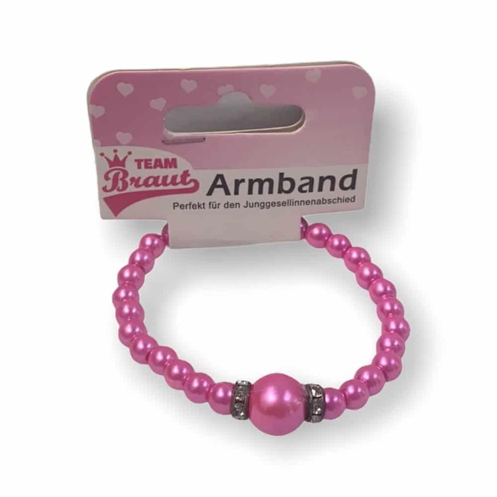 Armband mit pinken Perlen