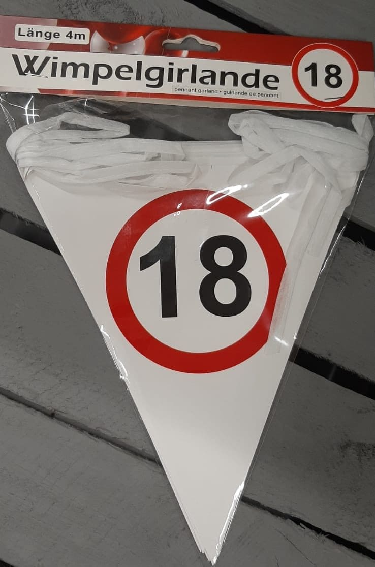 "Wimpelgirlande ""18"""