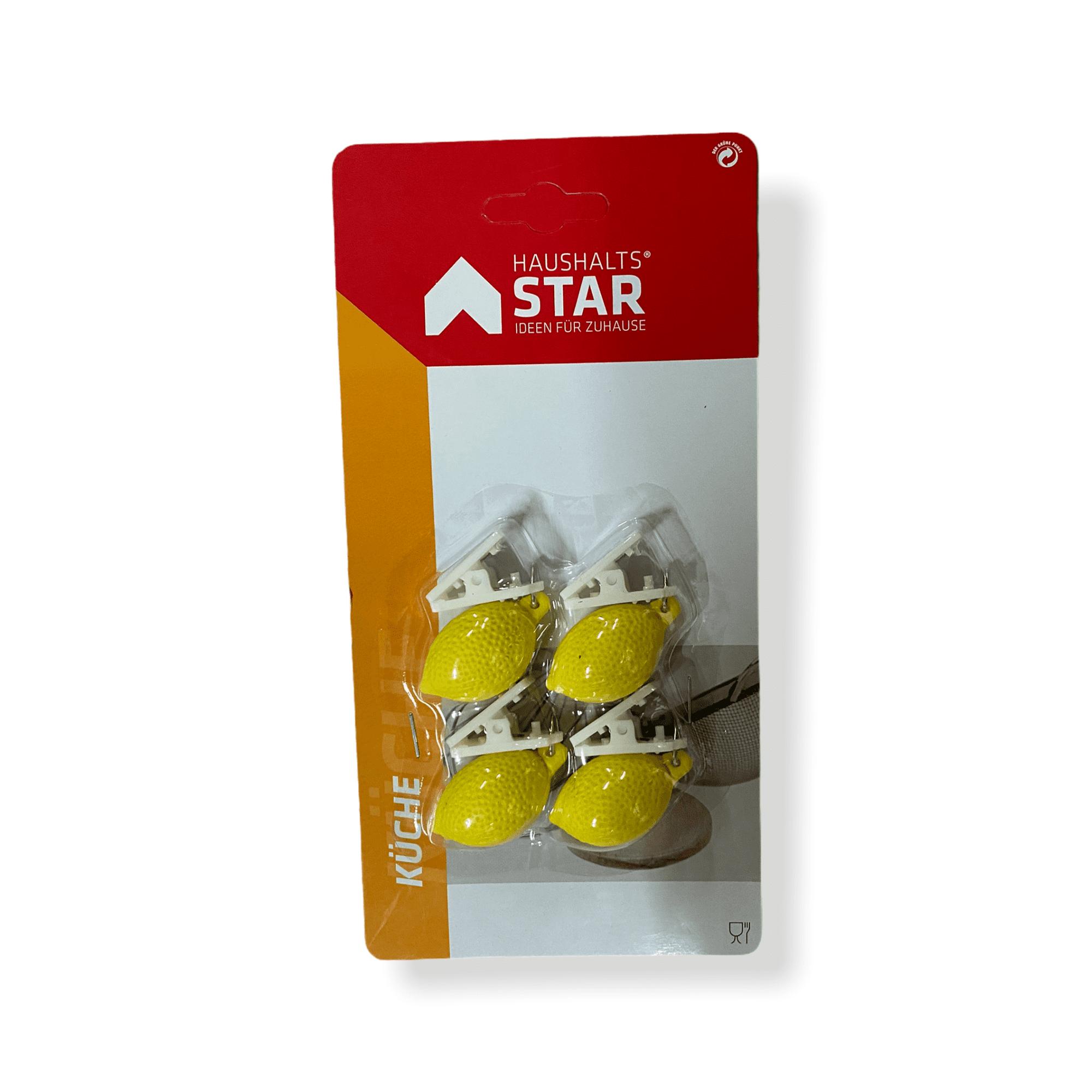 4er-Set Tischtuchbommel Zitrone
