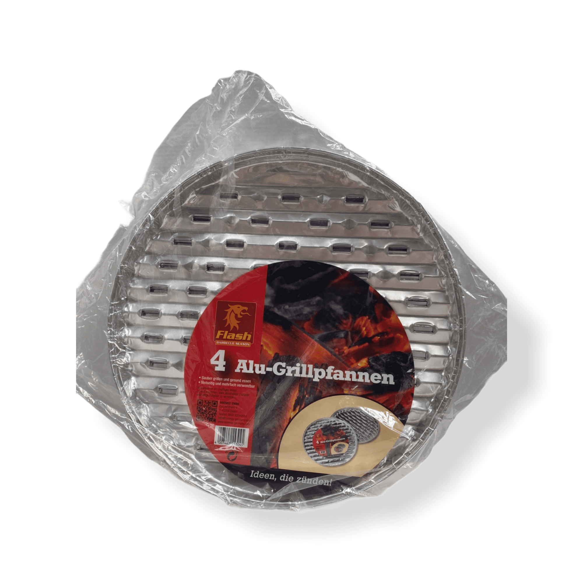 4er Set Alu-Grillpfannen