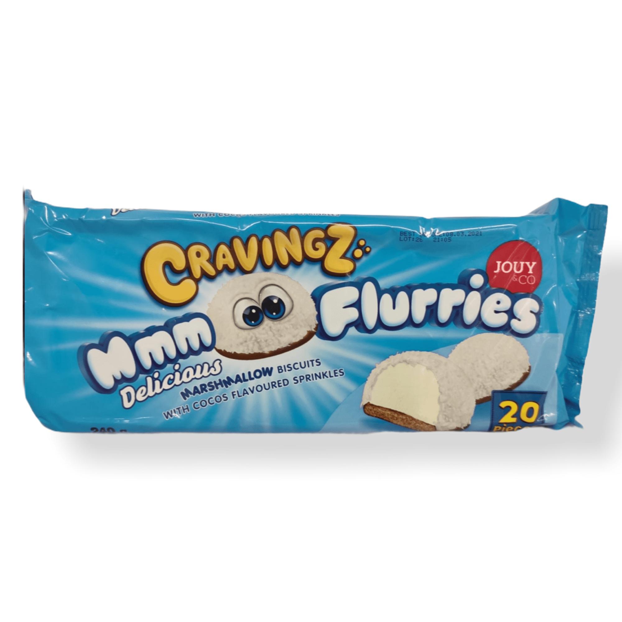 Cravingz Flurries Kokos Marshmallow Keks mit Kokos Streusel 240g