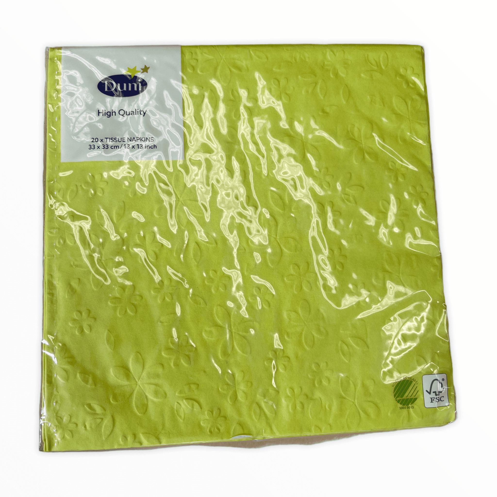20er-Pack Duni Servietten - Blumenprägung