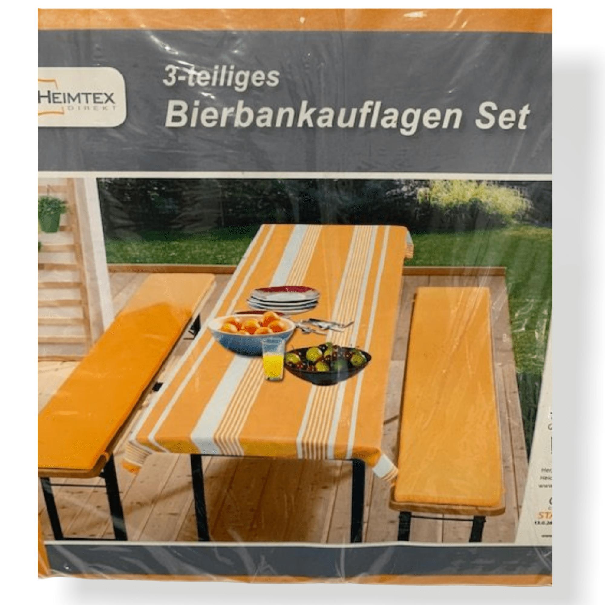3 tlg. Bankauflagen-Set orange