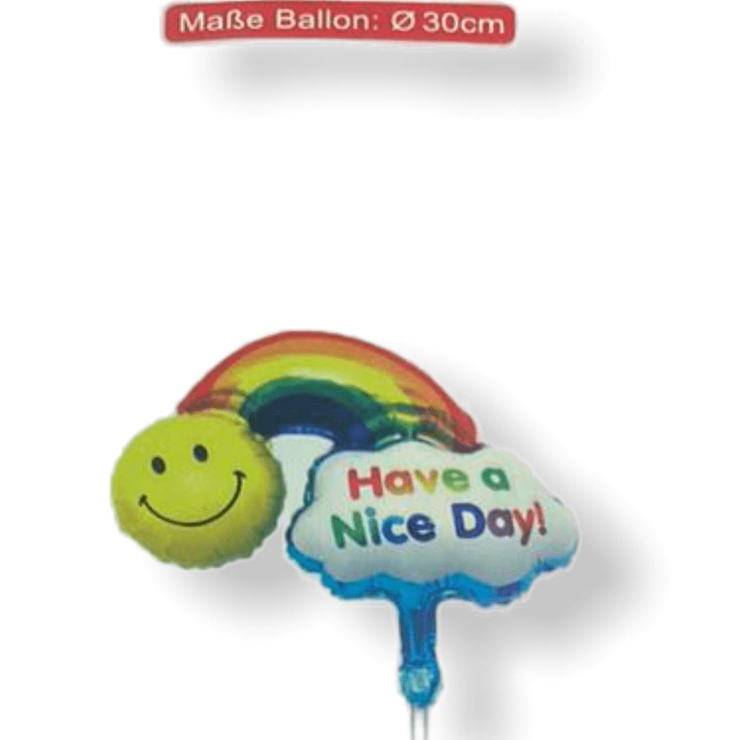 """Folienballon mit Stick """"Happy Birthday"""" - Kleine Wolke"""