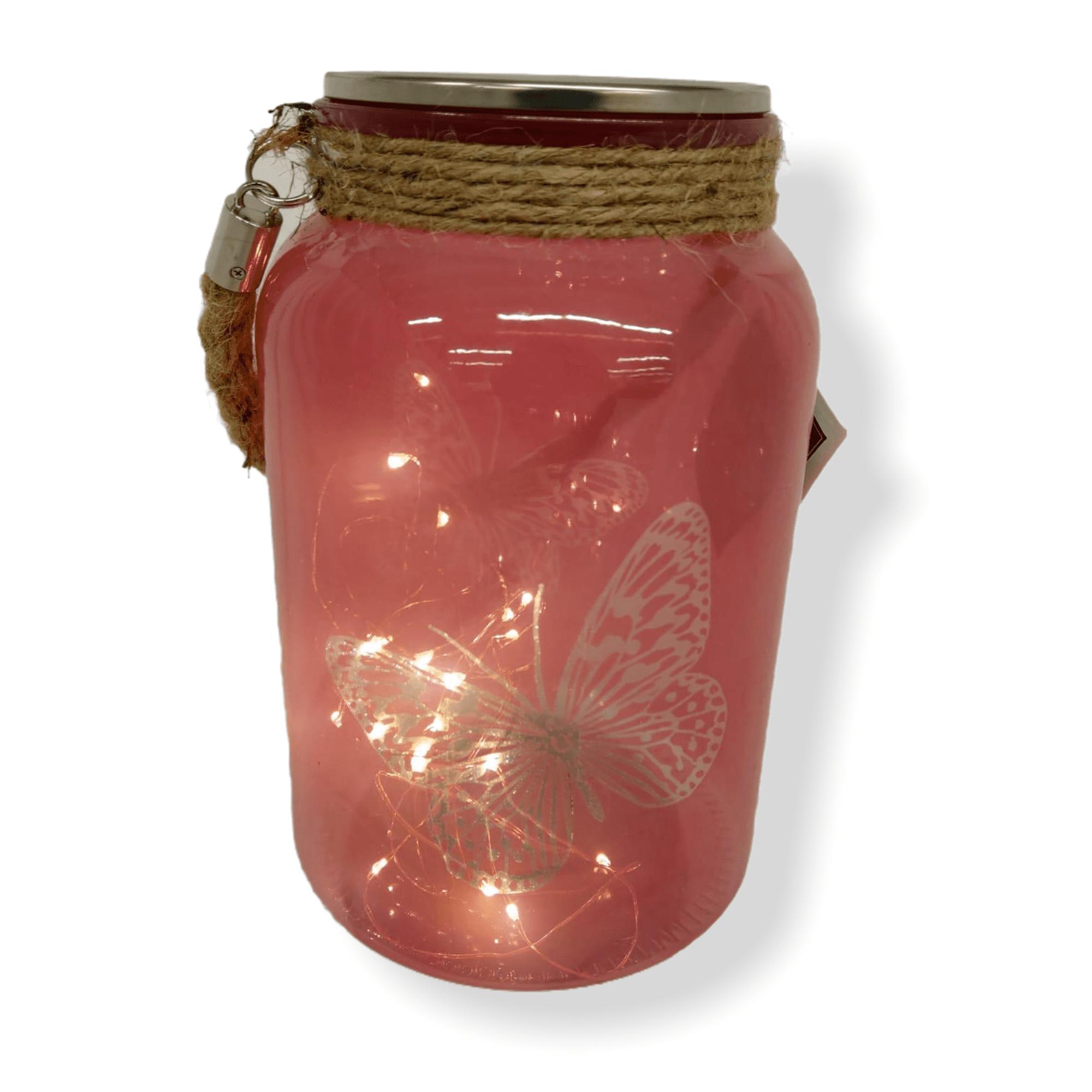 "LED Windlicht ""Pelo"" mit Schmetterlingsmotiv"