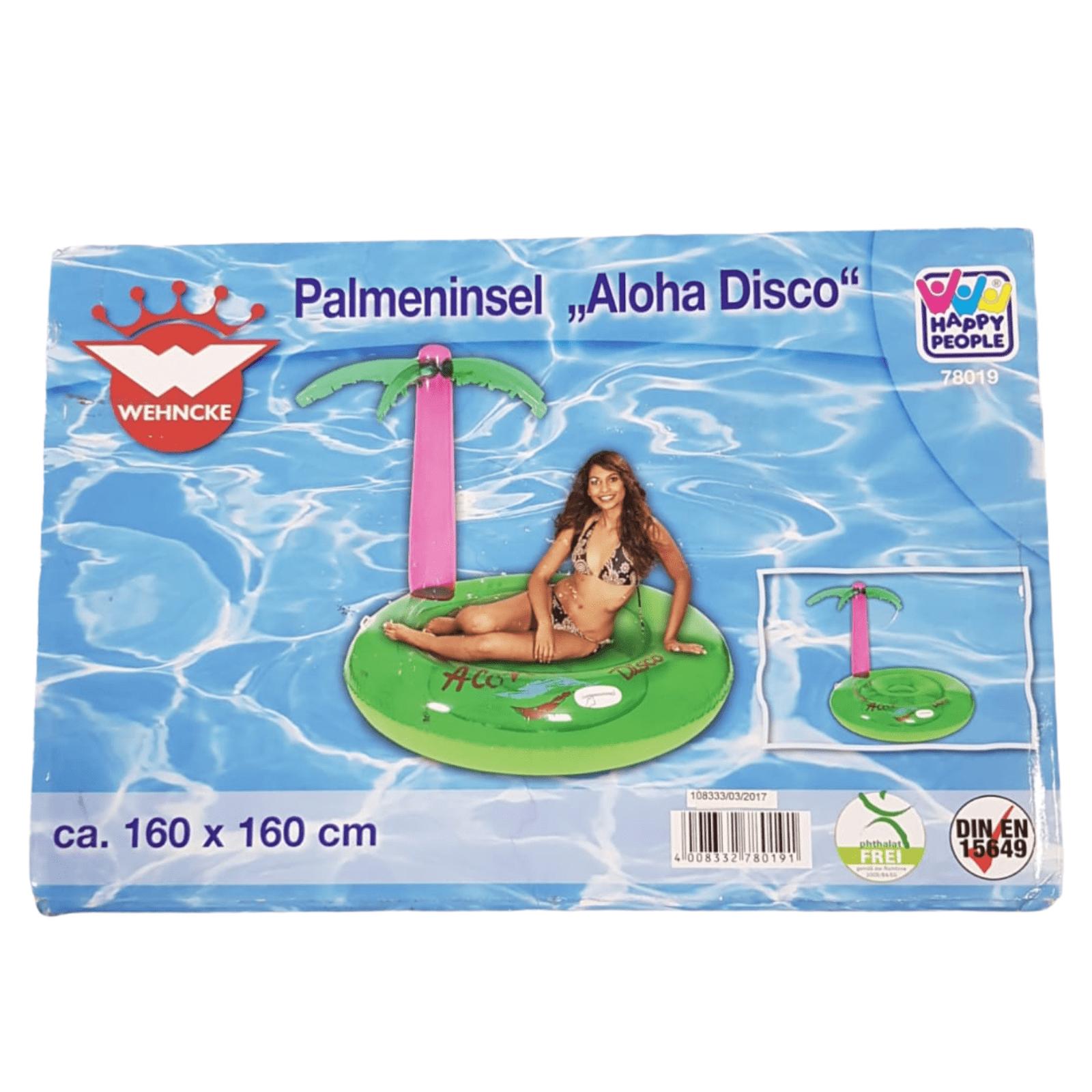"Badeinsel mit Palme rosa ""Aloha Disco"""