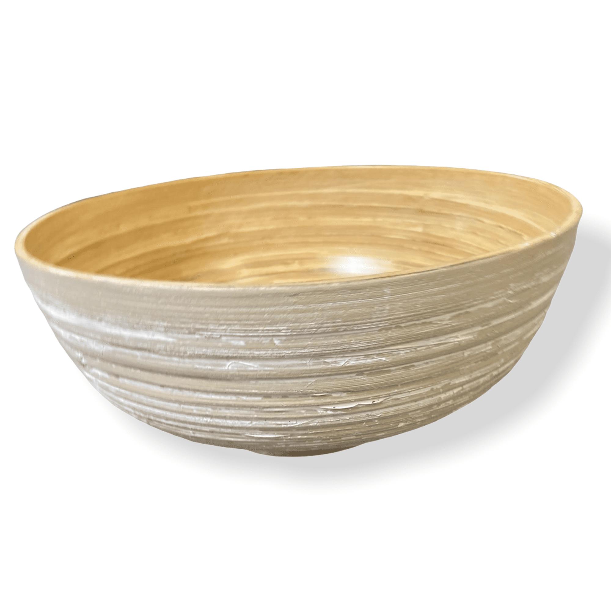 Schale weiß aus Bambus