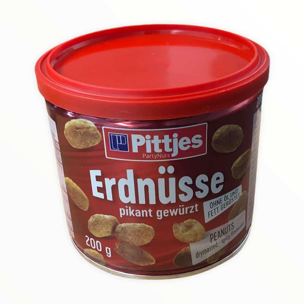Pittjes Erdnüsse pikant gewürzt 200g