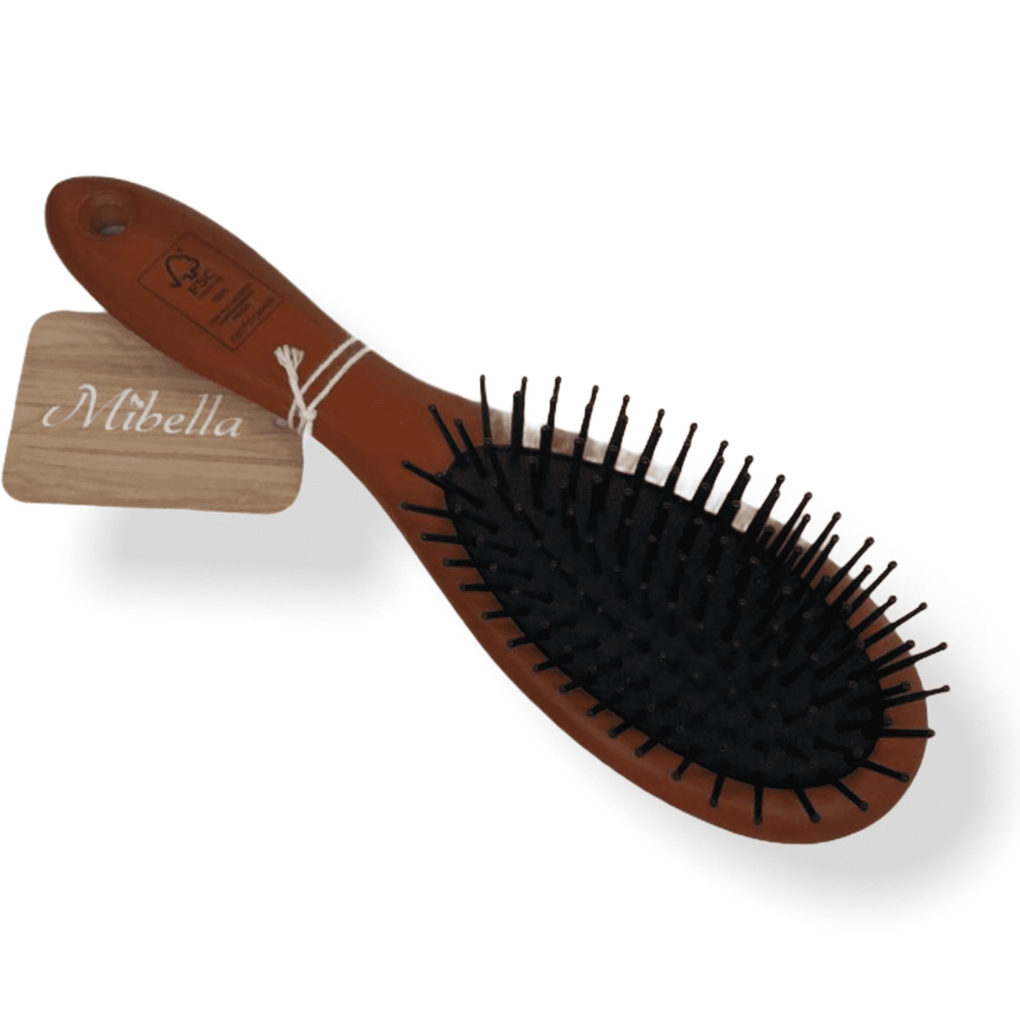 Haarbürste mit Holzgriff