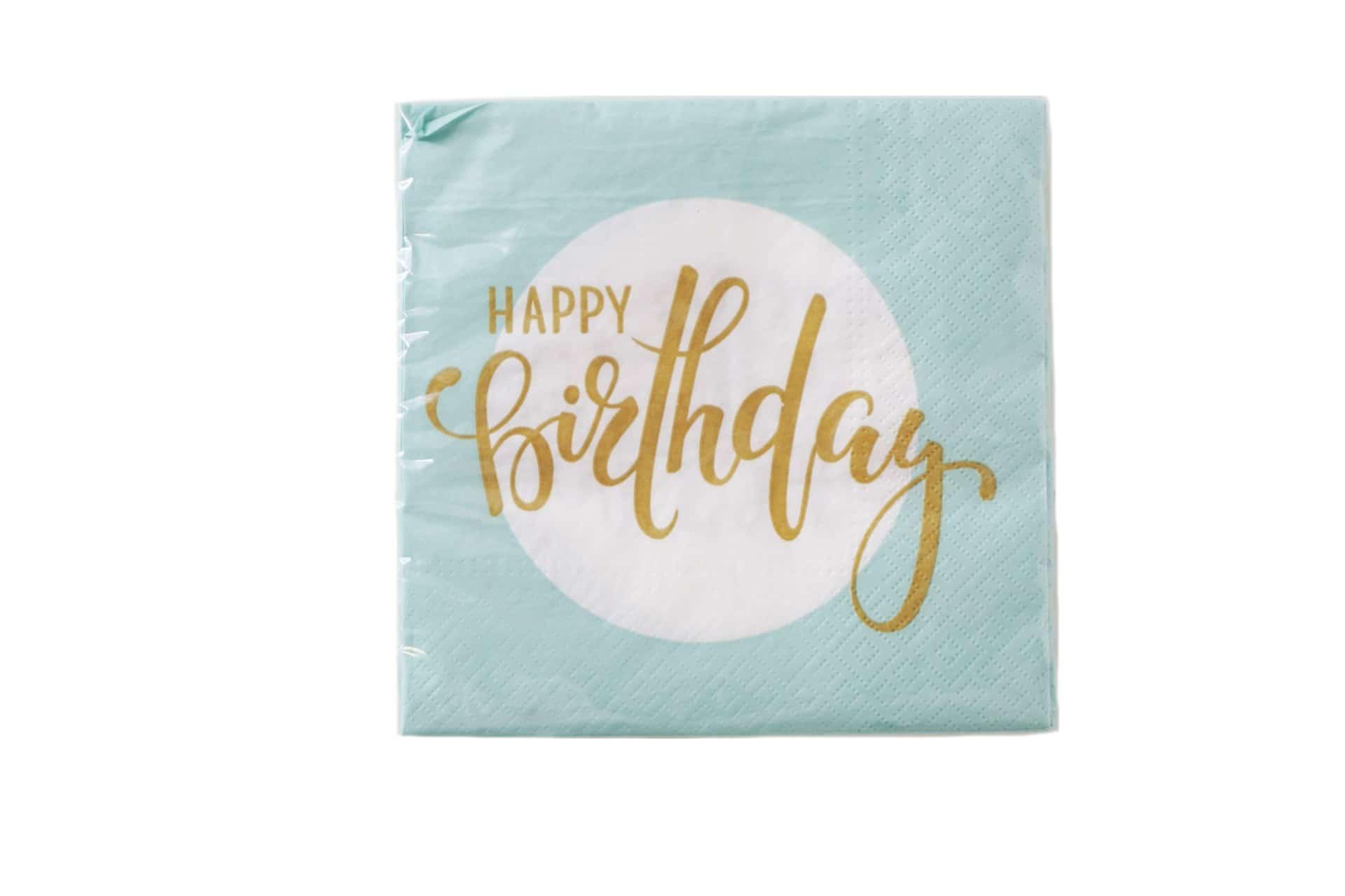 """20er-Pack Servietten """"Happy Birthday"""""""