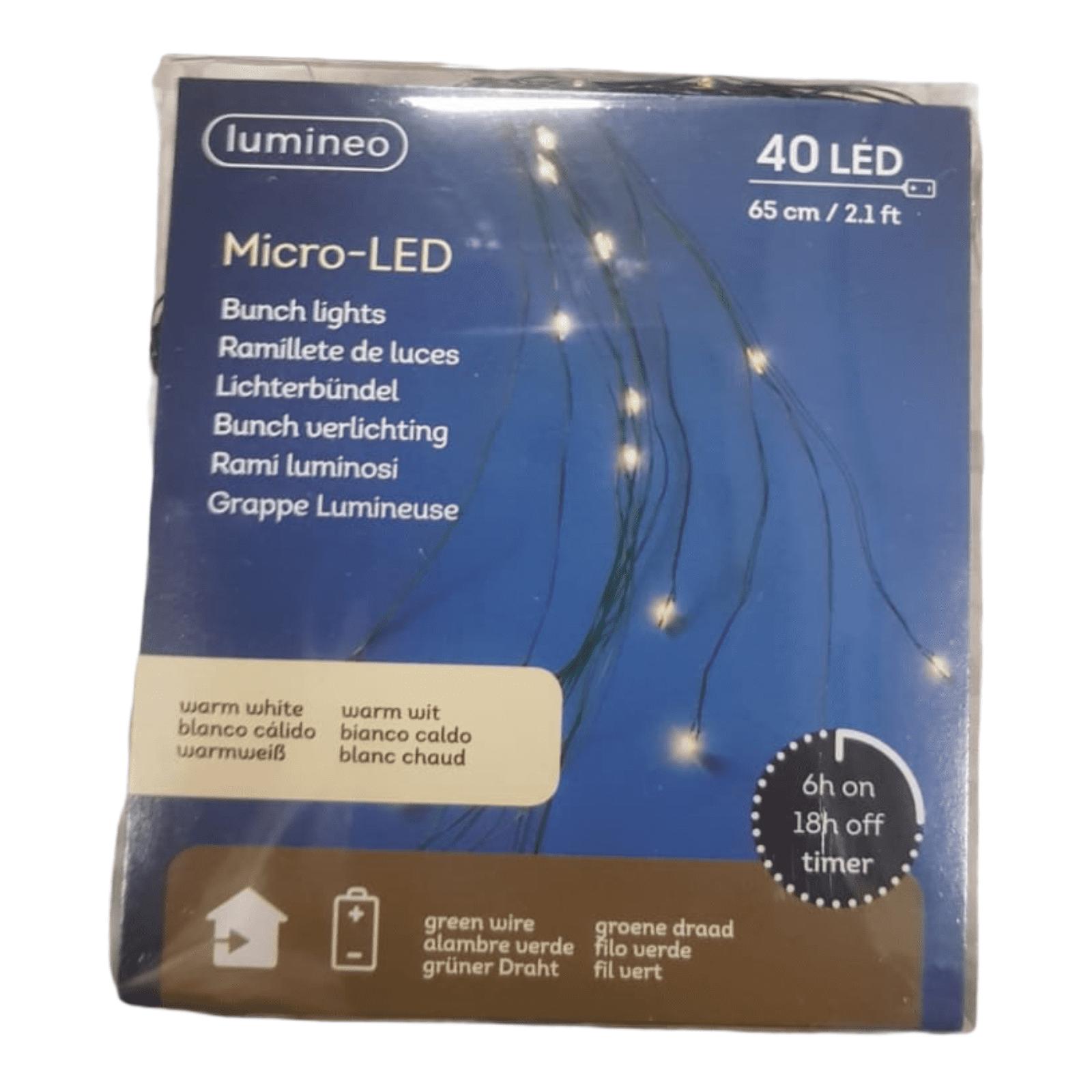 40er LED-Micro-Lichterbündel mit Timer