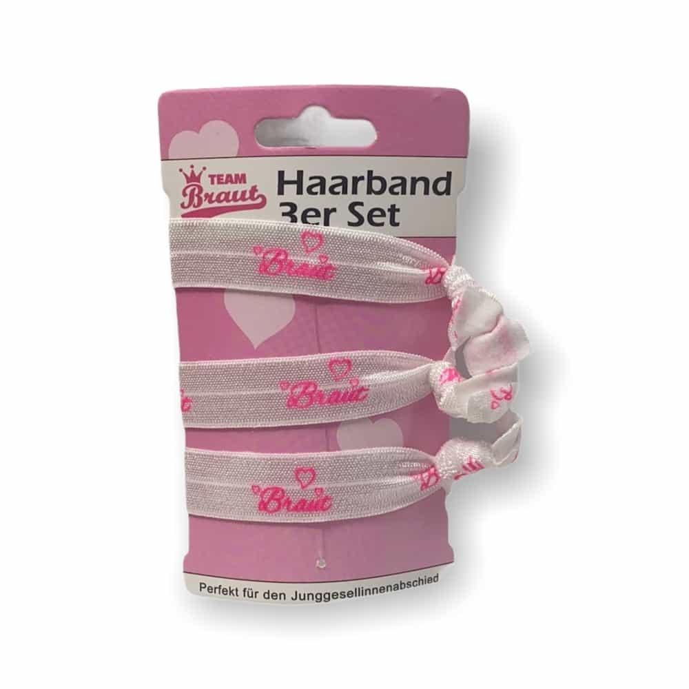 "3er-Set Haar-/Armbänder ""Braut"""