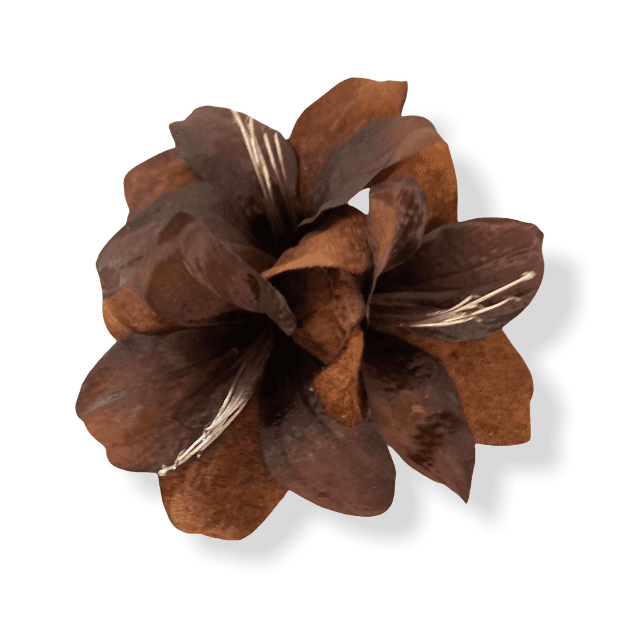 Amaryllis mit Clip braun