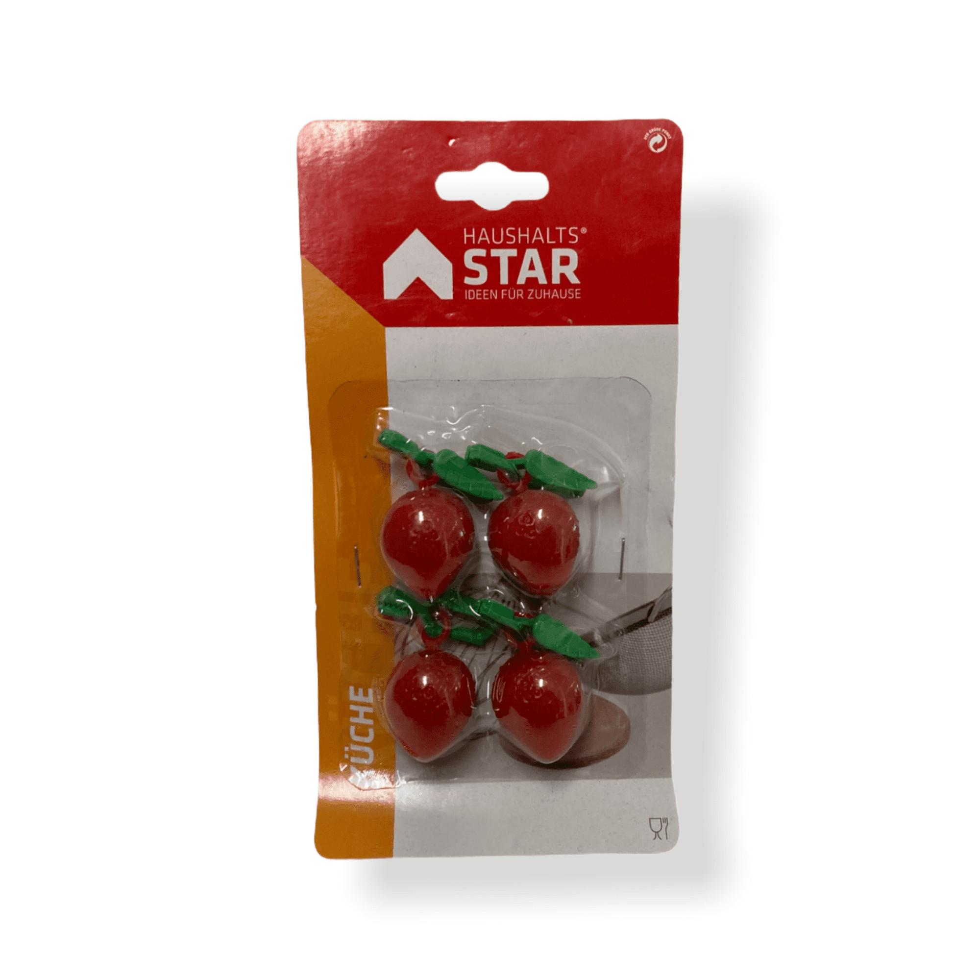 Tischtuchbommel Erdbeere 4er