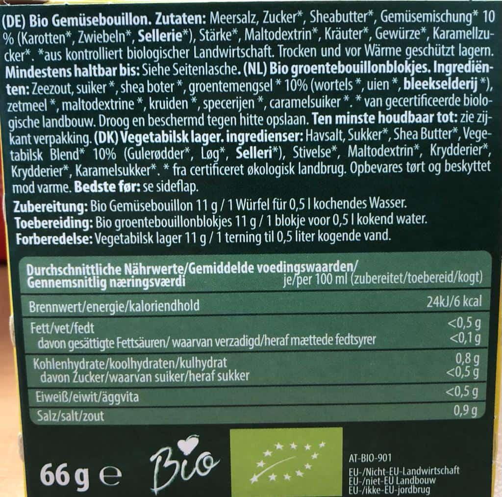 6er Packung Cassian Gemüsebouillon 66g