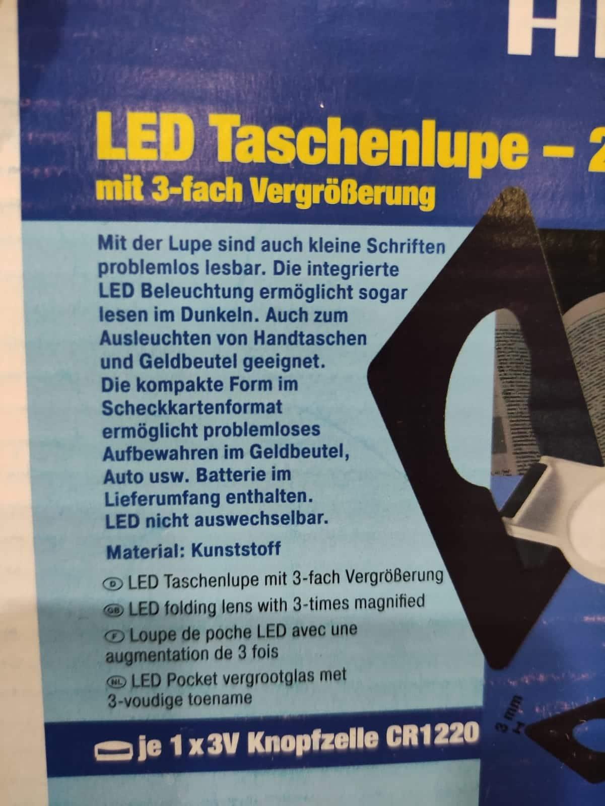 2er-Set LED-Taschenlupe