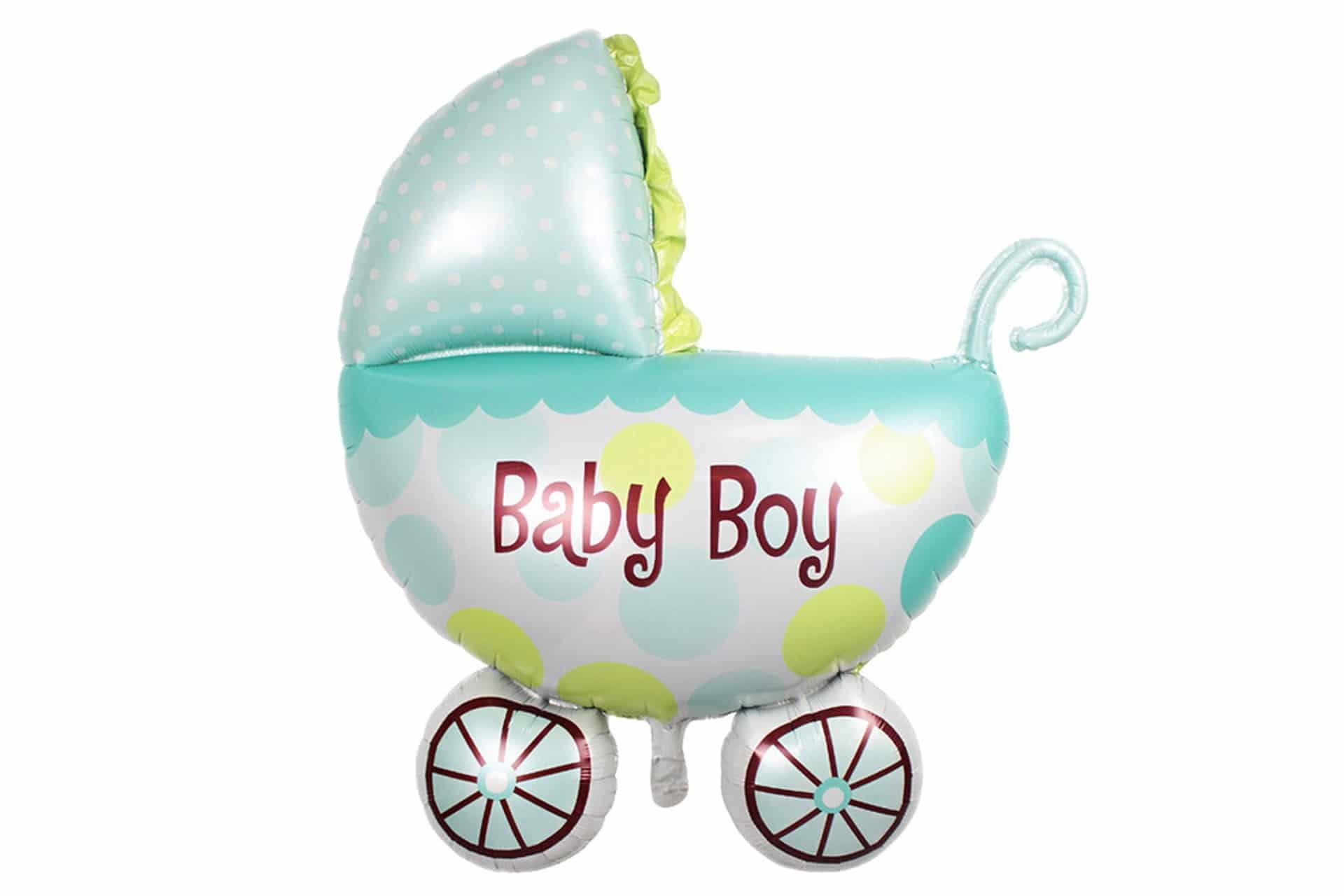 "Folienballon mit Stick ""Baby Boy"""