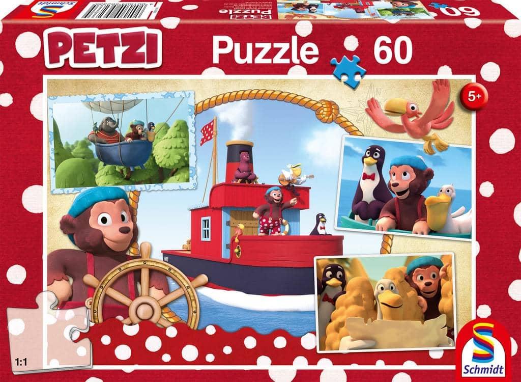 Puzzle Petzi und seine Freunde auf hoher See