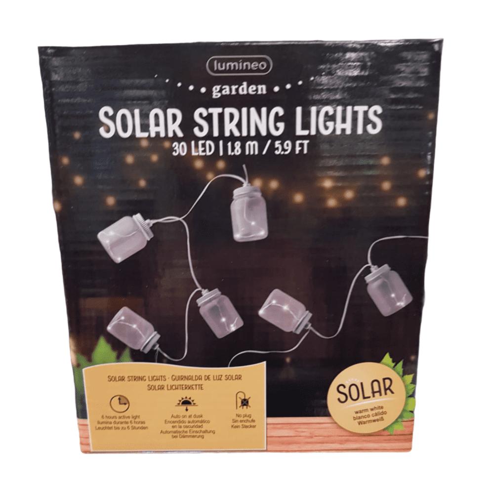 "10er Solar-LED-Lichterkette ""Einmachglas"""