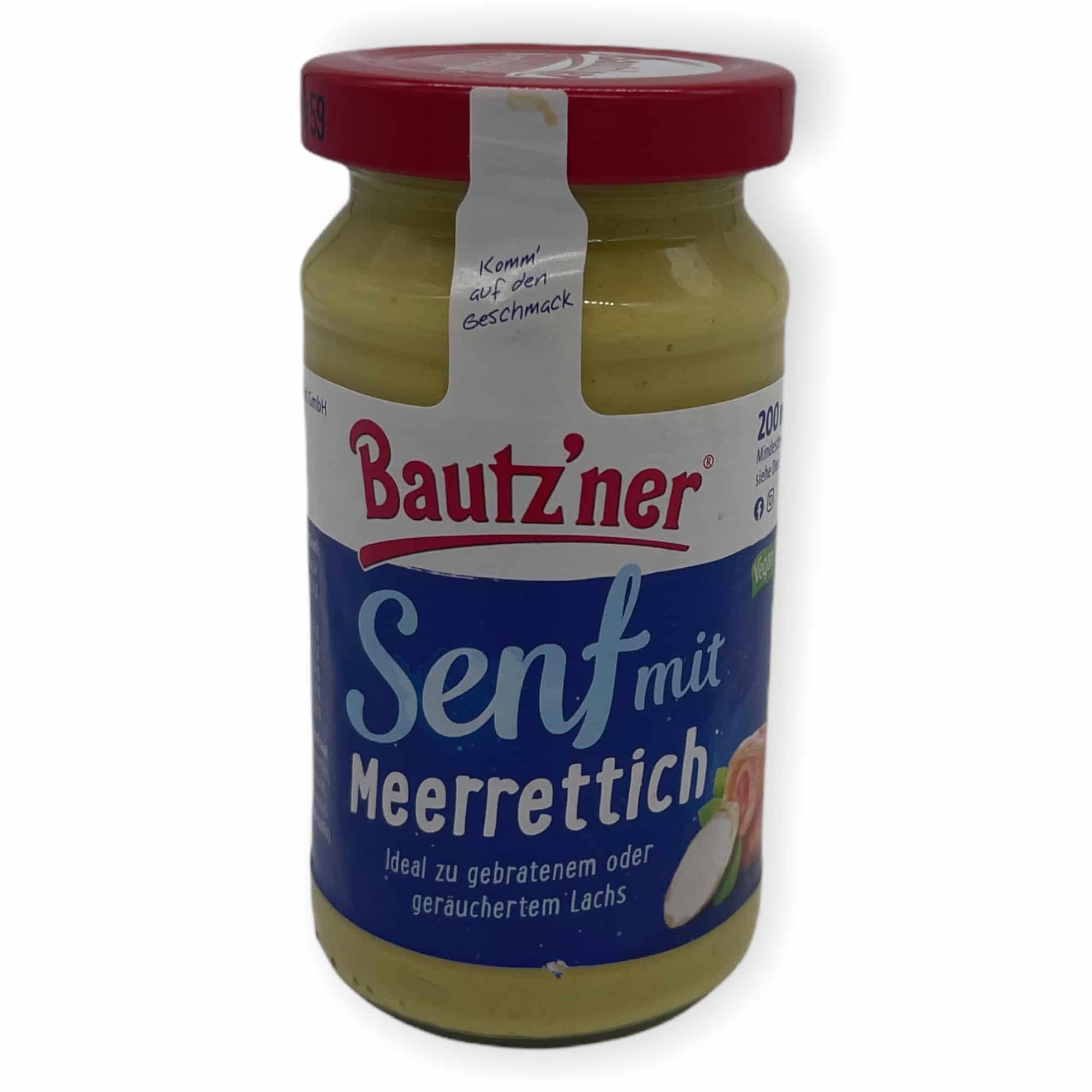 Bautz'ner Senf mit Meerrettich 200 ml
