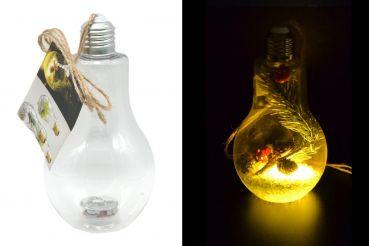 LED-Glühbirne mit Hanfkordel