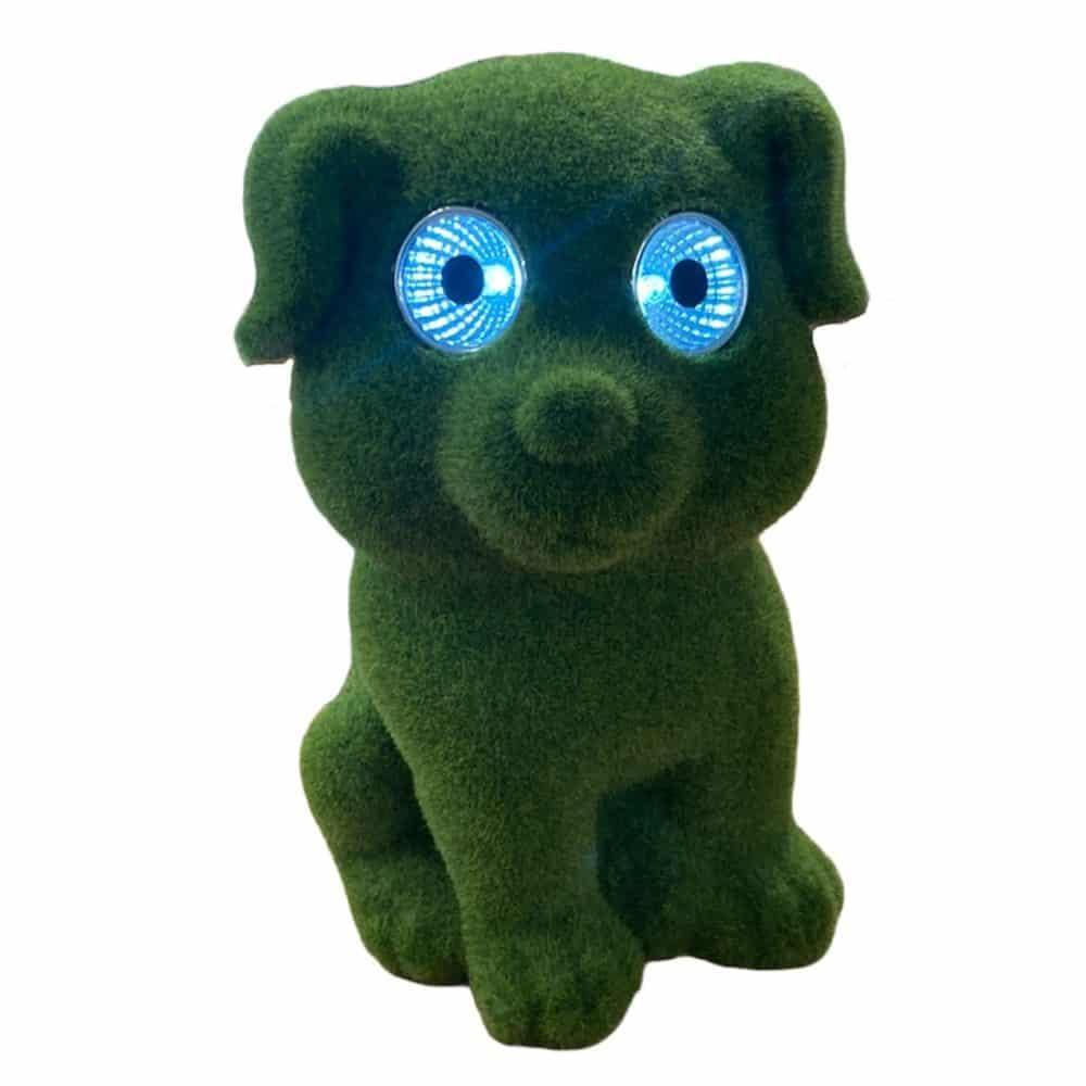 Solar Hund mit LED-Augen