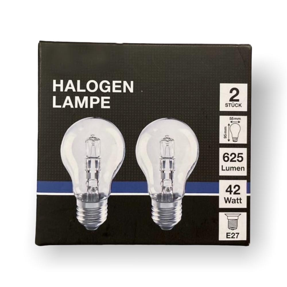 2er-Set Halogen-Leuchtmittel - 42 Watt