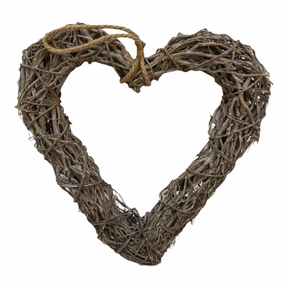Herz aus Weide zum Aufhängen