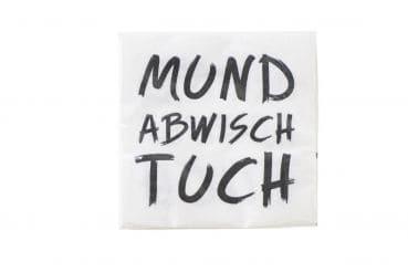 """20er-Pack Servietten """"Mundabwischtuch"""""""