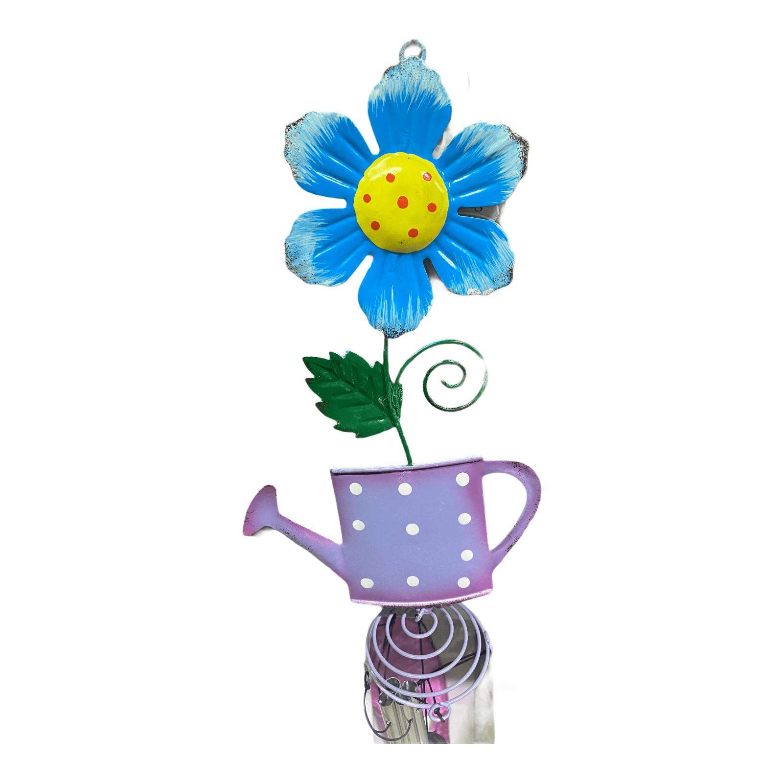 Windspiel Blume mit Gießkanne lila