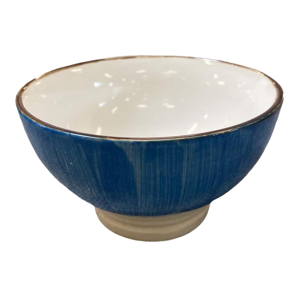 Müslischale aus Keramik blau