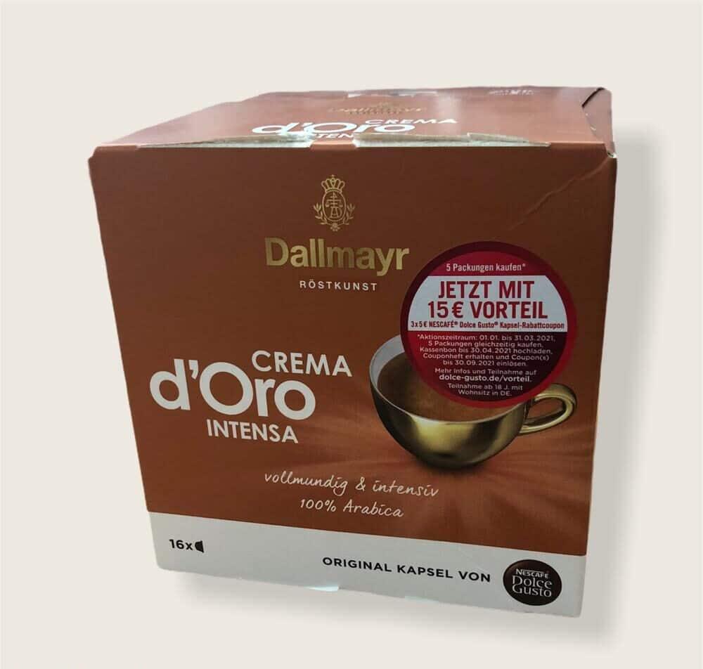 16er Packung Nescafé Dolce Gusto Dallmayr Crema D´Oro Intensa