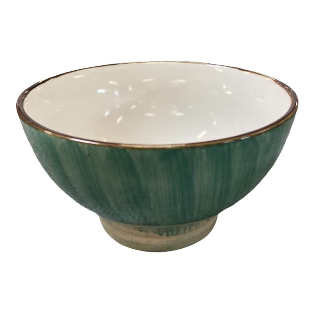 Müslischale aus Keramik grün
