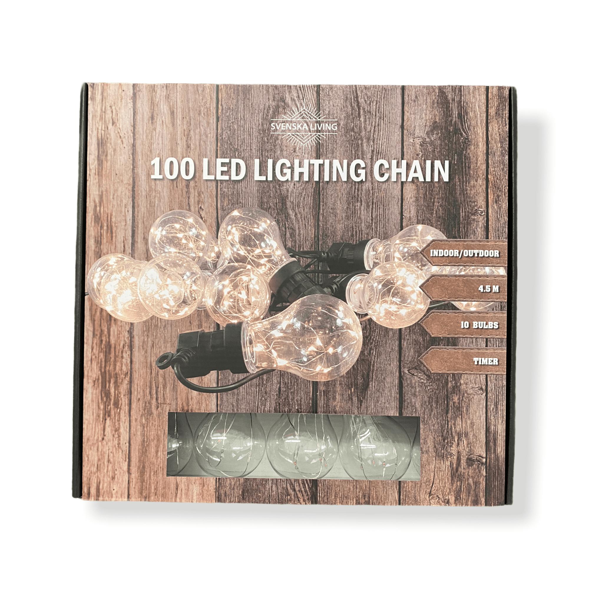 """100 LED-Outdoorlichterkette """"Lightbulbs"""" , 10 Glühbirnen - warmweiß - Timer - 23362808"""