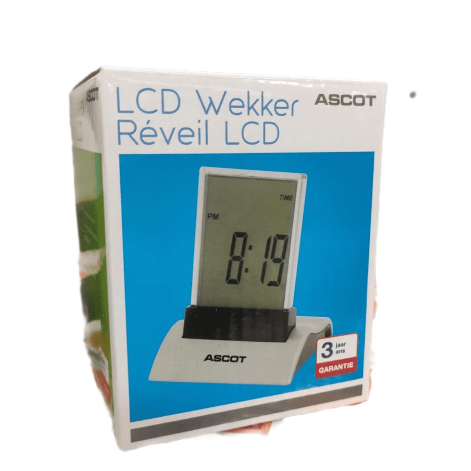 Ascot LCD Wecker rechteckig