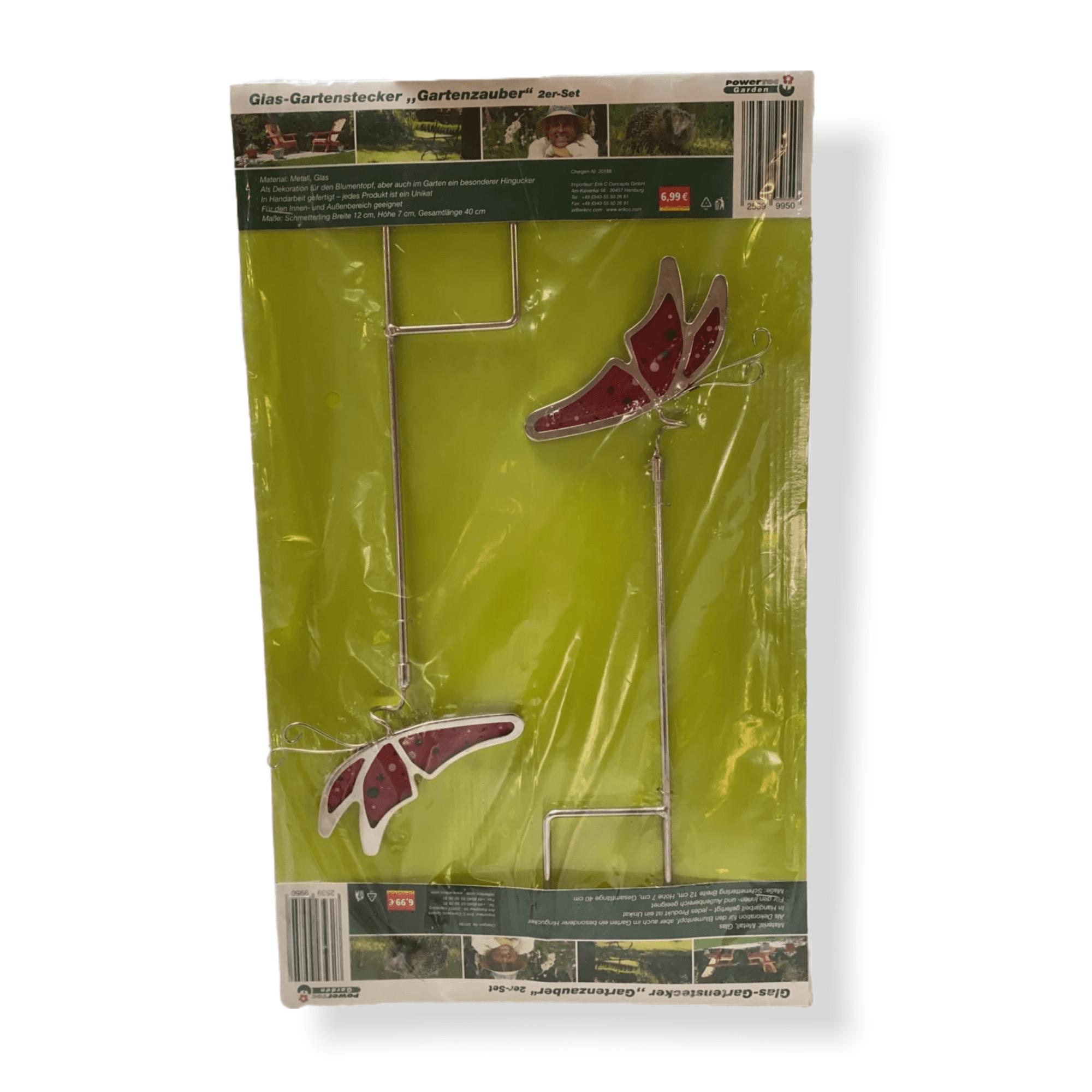 2er-Set Gartenstecker Schmetterlinge
